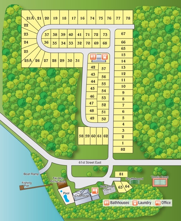 Fishermans Cove Park Map